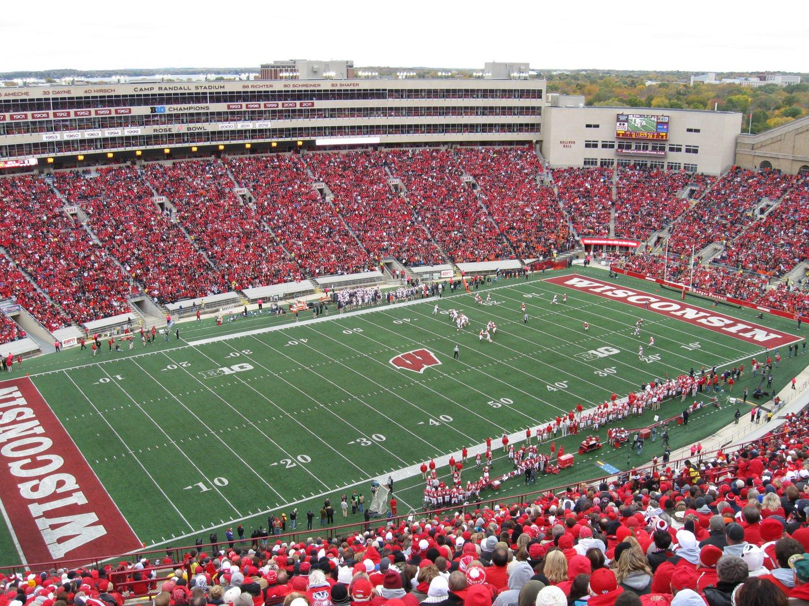 Image result for wisconsin football stadium