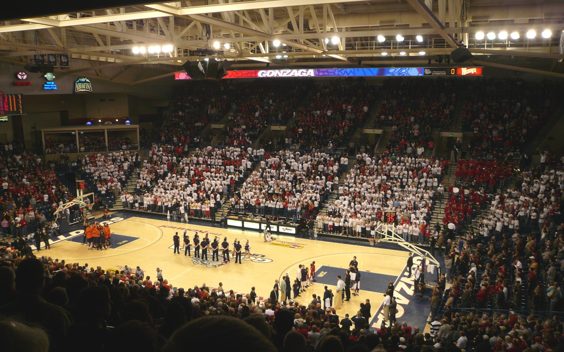 West Coast Conference College Basketball Arena Wallpapers