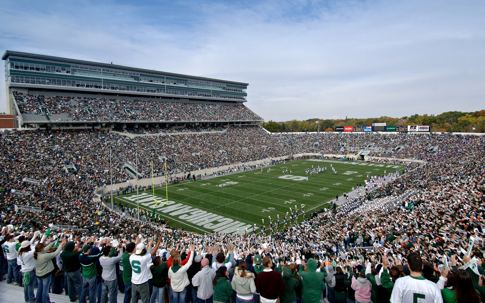 Michigan State University Wallpapers: Big Ten Conference College Football Stadiums Wallpapers